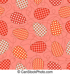 Easter pink seamless pattern.