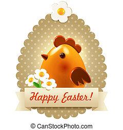 Easter postcard greetings - Easter greetings postcard -...
