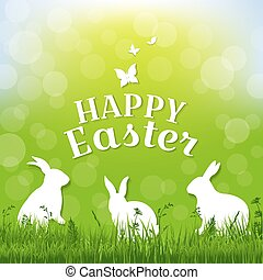Easter Postcard With Gradient Mesh, Vector Illustration