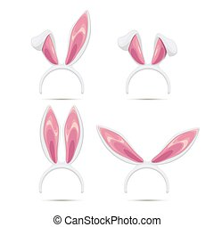 Easter rabbit ears masks collection