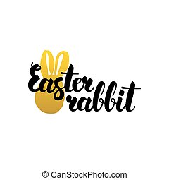 Easter Rabbit Handwritten Calligraphy