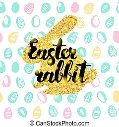 Easter Rabbit Handwritten Card