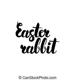 Easter Rabbit Handwritten Lettering