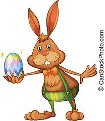 Easter rabbit - Illustration of an easter bunny