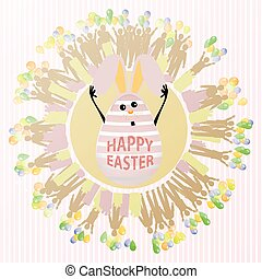 EASTER Rabbit with funny face