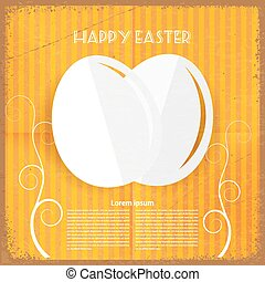 Easter retro background. Vector illustration.