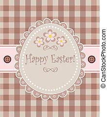 Easter retro card