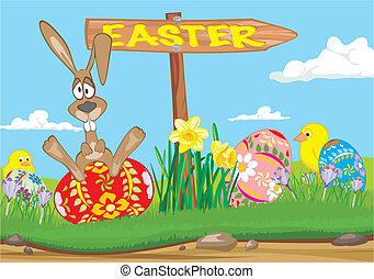 Easter  - road sign