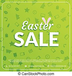easter sale banner green background