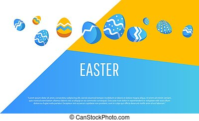 Easter. Sale banner with place for text.