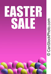 Easter Sale Poster - A portrait format image of an easter...