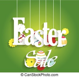Easter sale poster with eggs