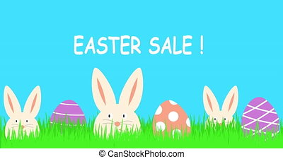 Easter sale text animation. 4k resolution.
