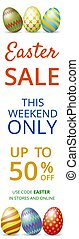 Easter sale web banner