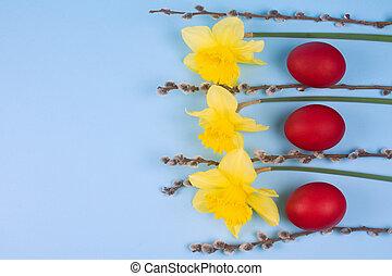 Easter scene postcard