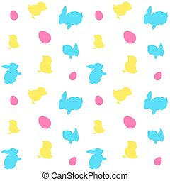 Easter seamless background .