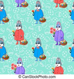Easter seamless pattern-02