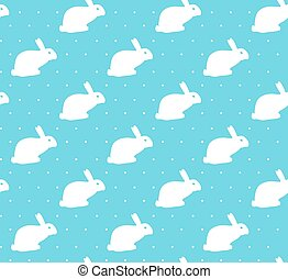 Easter seamless pattern design with bunnies