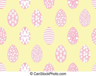 Easter seamless pattern with Easter eggs. Soft colors. Vector illustration