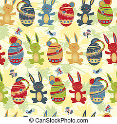 Easter seamless pattern