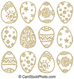 Easter seamless vector pattern.