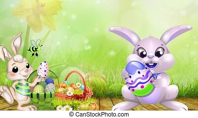Easter Set 01 - Virtual Green Screen Background Loop