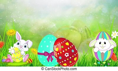Easter Set 06 - Virtual Green Screen Background Loop