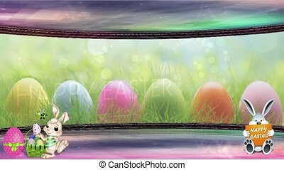 Easter Set 07 - Virtual Green Screen Background Loop