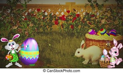 Easter Set 10 - Virtual Green Screen Background Loop
