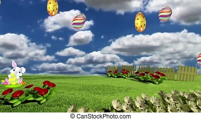 Easter Set 11 - Virtual Green Screen Background Loop