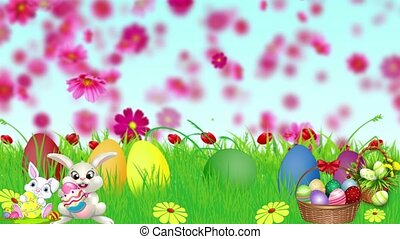 Easter Set 13 - Virtual Green Screen Background Loop