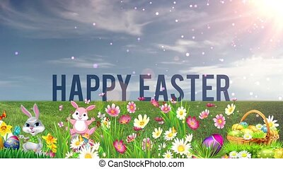 Easter Set 14 - Virtual Green Screen Background