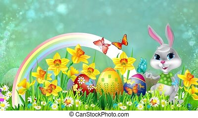 Easter Set 15 - Virtual Green Screen Background Loop