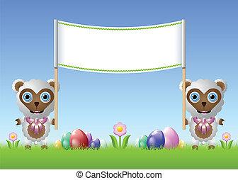 Easter sheeps