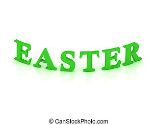 EASTER sign with green word
