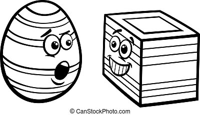 Easter Surprise Coloring Page Easter Duckling Jumping Out From