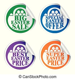 Easter stickers big sale,special offer,best price,super price with basket colorful