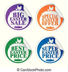 Easter stickers big sale,special offer,best price,super price with chicken colorful