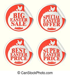 Easter stickers big sale,special offer,best price,super price with chicken