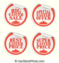 Easter stickers big sale,special offer,best price,super price with eggs in the grass