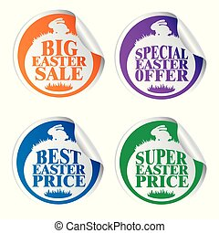 Easter stickers big sale,special offer,best price,super price with rabbit colorful