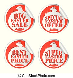Easter stickers big sale,special offer,best price,super price with rabbit