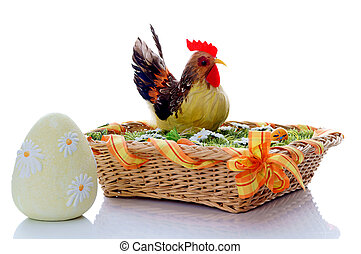 Easter - Rooster in the Easter Basket