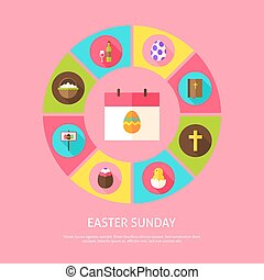 Easter Sunday Concept
