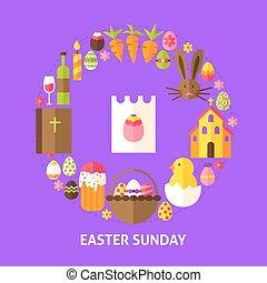 Easter Sunday Postcard