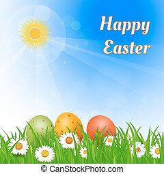 Easter sunny background