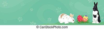 Easter template Web banner Header