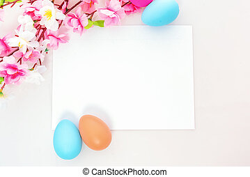 Easter themed blank note