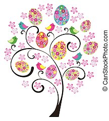 Easter Tree - vector Easter tree