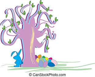 Easter Tree With Easter Bunny